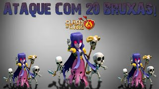Clash of Clans - Ataque com 20 BRUXAS - PT Centro de vila 10