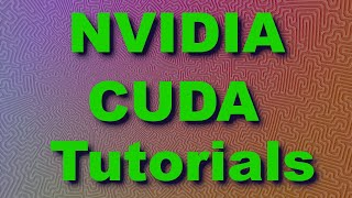 CUDA Tutorial 2: Basics and a First Kernel