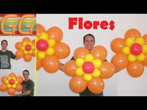 how to make a balloon flower - easy balloon flower