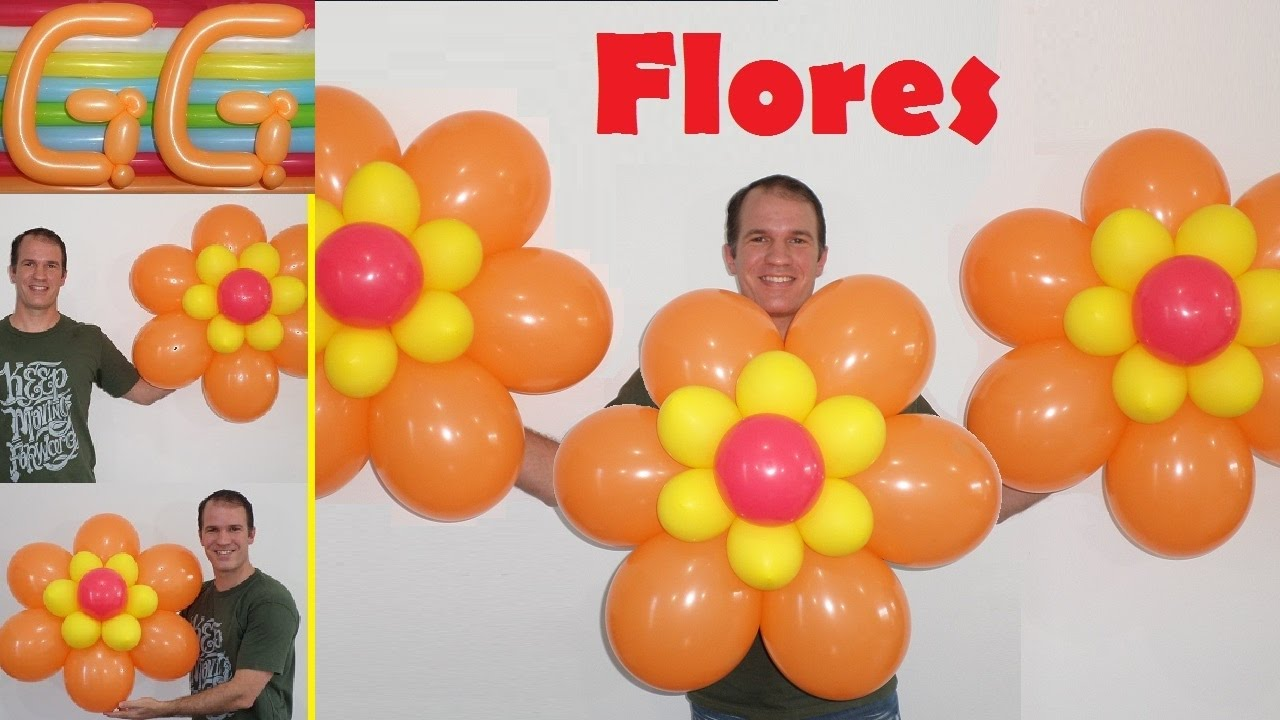 Como hacer flores con globos decoraci n para cumplea os - Como hacer decoracion de cumpleanos ...