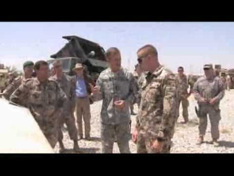 General McChrystal Visits German Troops in Northern Afghanistan