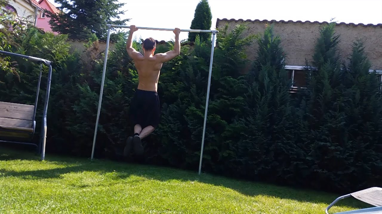 Holz Reck Garten Calisthenics Klimmzugstange Selber Bauen How To Build A Pull Up Bar English Subtitles