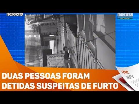 Duas pessoas foram detidas suspeitas de furto - TV SOROCABA/SBT