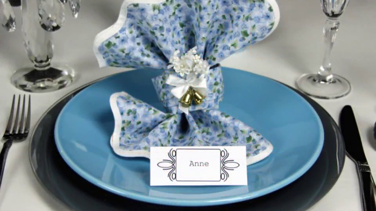 Napkin Folding Wedding Knot Youtube