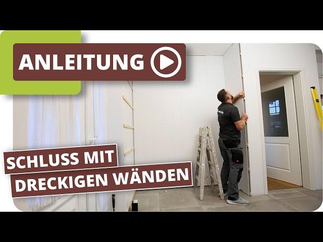 Wandpaneele anbringen - Die Lösung für Flecken an der Wand