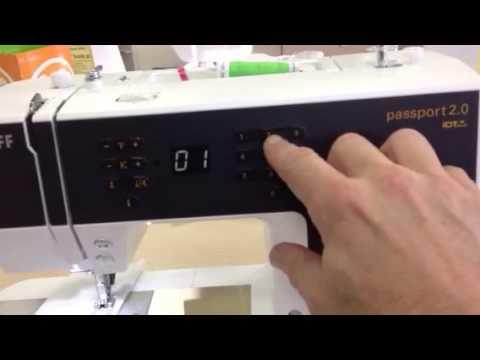 pfaff passport 2 0 at kingdom sewing center northridge youtube. Black Bedroom Furniture Sets. Home Design Ideas