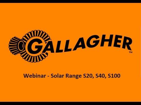 Webinar Gallagher Solar Energizers - S20, S40, S100