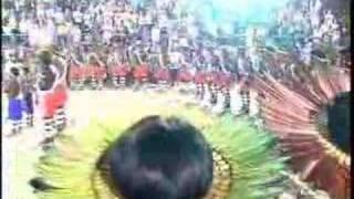 Cacique Robson Miguel-Hino Nacional Brasileiro na Lingua Guarani-com Indios