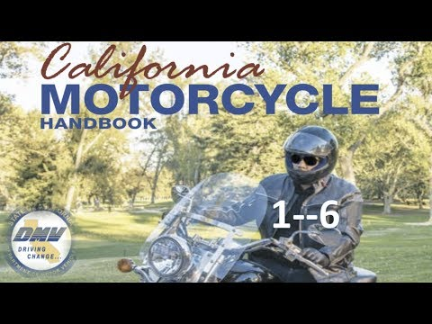 "DMV Motorcycle License Handbook """"""(AUDIO)""""""........1--6"