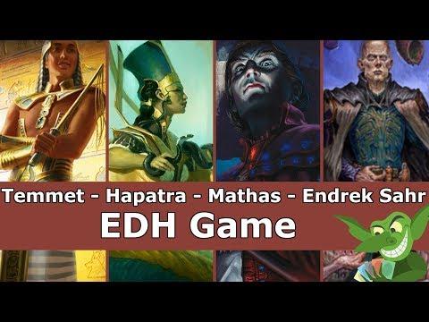 Temmet vs Hapatra vs Mathas vs Endrek Sahr EDH / CMDR game play for Magic: The Gathering