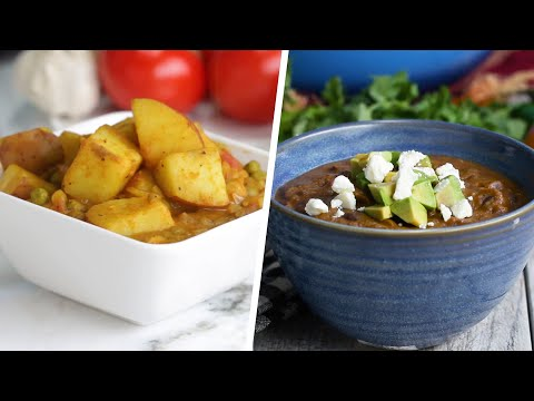 4 High-Fiber Vegetarian Meals • Tasty