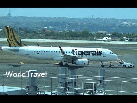 Tiger Air Airbus A320-200 taking off from Bali Indonesia