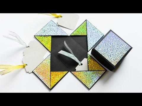 How to Make - Easy Exploding Box Birthday Gift - Step by Step DIY | Eksplodujące Pudełko