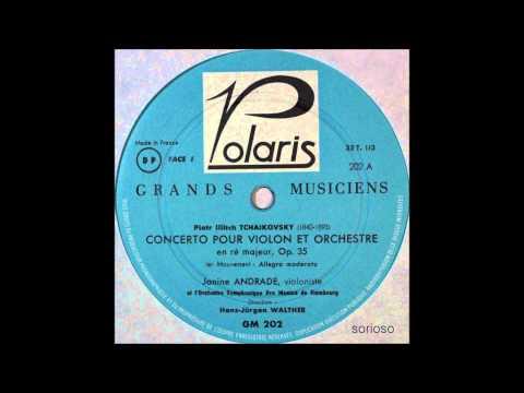 Tchaikovsky, Violin Concerto In D Major, 1stmov,  Janine Andrade