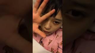 村川緋杏 HKT48 おやすみのすっぴんの充血!!昨日今日と緊張するお仕事...