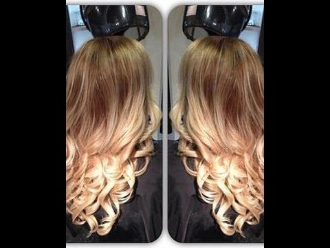 Покраска волос в стиле омбре в домашних условиях видео