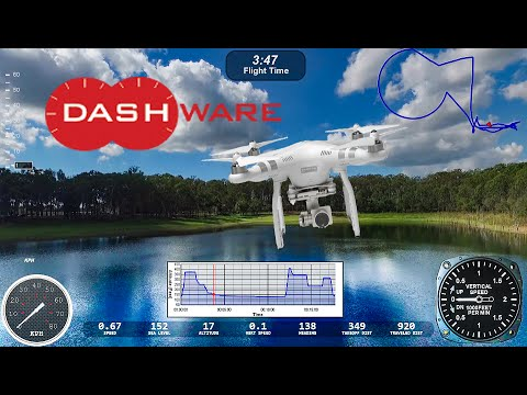 DJI Phantom 3 with Dashware gauges using Litchi log files exported from  Healthy Drones
