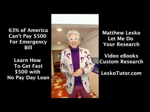 Here's How 63% of America Can Get A FAST FREE $500 with NO Pay Day Loan