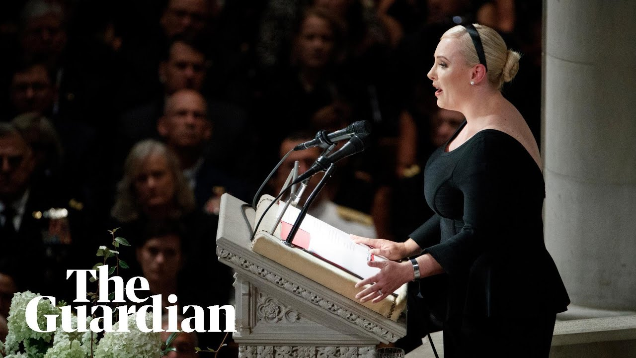 John McCain's daughter alludes to Trump in memorial speech