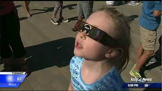 Why did you get a headache after safely looking at the eclipse?