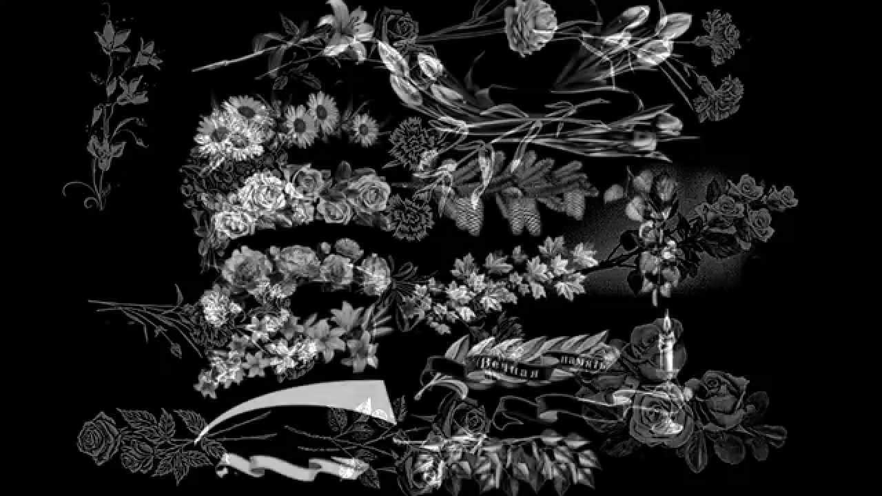 Рисунок цветы на лист
