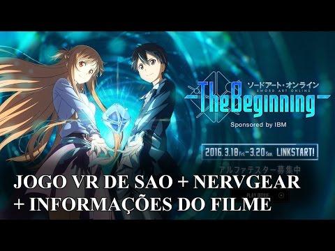 Jogo de Realidade Virtual de Sword Art Online, Nervegear e notícias do Filme de SAO | IntoxiNews