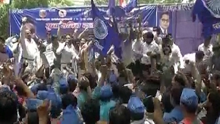 Bhim Army gathers at Jantar Mantar for protest against alleged atrocities against Dalits