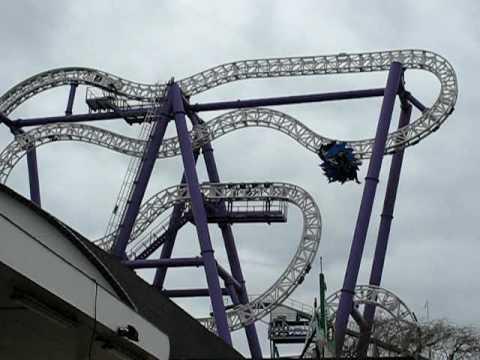 Insane coaster at Gröna Lund Tivoli, Stockholm, Sweden, on preview day