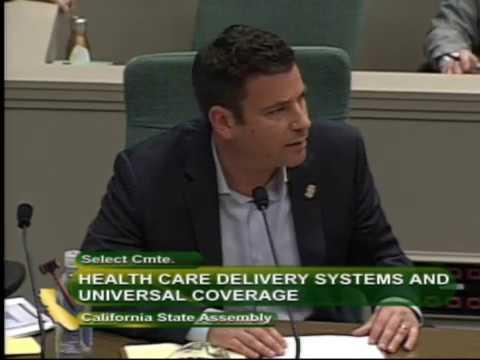 Local 856 Secretary-Treasurer/Principal Officer Peter Finn addresses the California Assembly