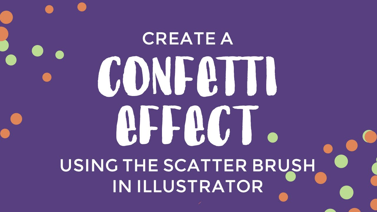 Create confetti by creating a custom scatter brush in