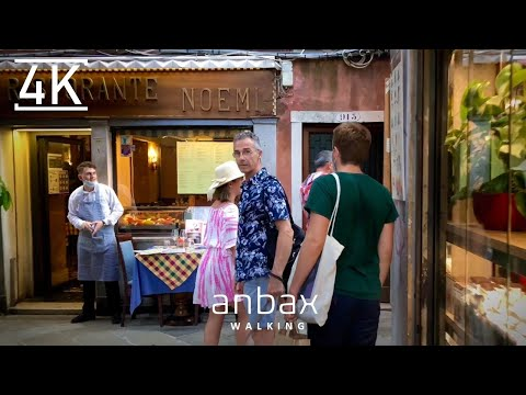 Walking in Venice, Italy, August 2020, City Walk, City Ambience, Virtual Walking Tour, 4K