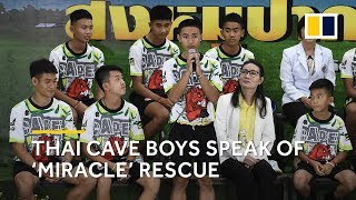 Thai soccer team makes first public appearance since cave rescue