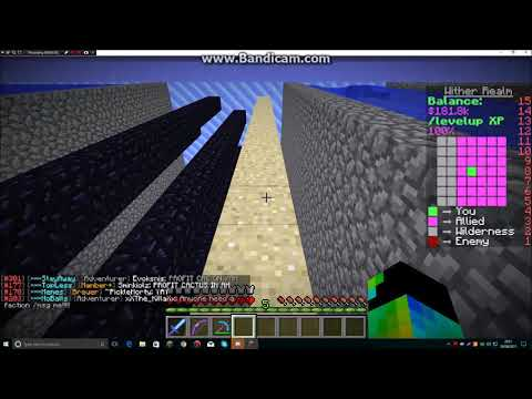 Minecraft Factions SaicoPvP | Touring our OP wall layout! #18
