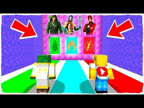 ¡NO ELIJAS LA DIMENSIÓN EQUIVOCADA! Green Arrow, Aquaman y The Flash en Minecraft thumbnail