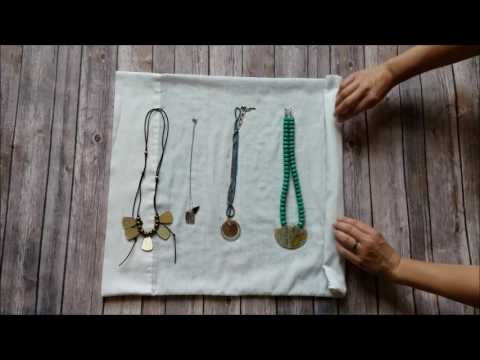 Traveling Hack for Packing Necklaces and Keeping them Tangle-Free