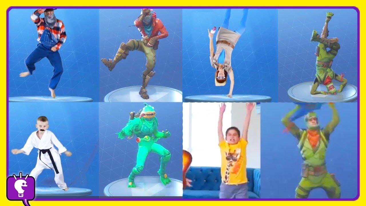 Minute HobbyFamily Fortnite Dance Challenge by HobbyKidsTv