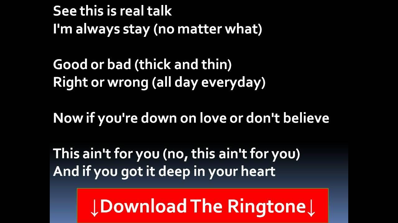 Be without you lyrics