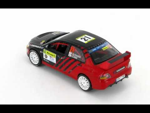 Mitsubishi Lancer EVO IX Nutahara - Ichino Barum Rally 2010 1:43 Scale Model Car