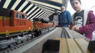 GOPRO 2017 Fullerton Railroad Days train ride on a layout