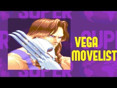 Super Street Fighter II: Turbo - Vega Move List