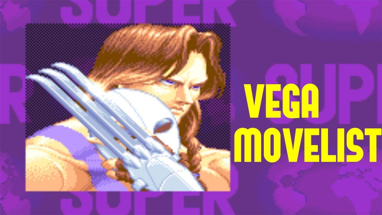 Super Street Fighter Ii Turbo Vega Move List Youtube