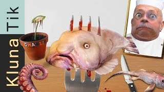 FANTASTIC sea creatures FOR DINNER |#35 KLUNATIK COMPILATION    ASMR eating sounds no talk