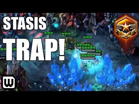 Starcraft 2: SNEAKY STASIS TRAP! SOs (Protoss) Vs Rogue (Zerg)