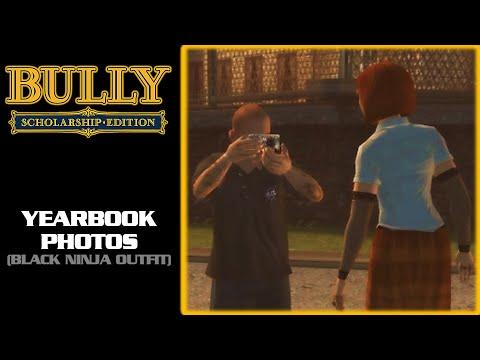 Bully: Scholarship Edition - Yearbook Photos [Black Ninja Outfit] (1080p)