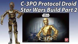 видео Сборная модель Bandai SW C-3PO 1/12