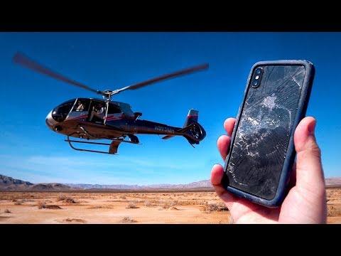 iPhone X Droptest aus einem Helikopter!
