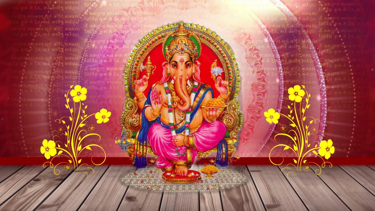 Shree Ganesha Starting Wedding Animation Hd Footage Youtube
