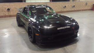 Sevenstock Defined Autoworks Mazda Rx7 4 rotor race car. Turn up the volume!