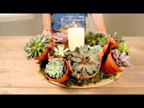 Gorgeous Succulent Flower Centerpieces In 30 Minutes Youtube