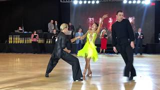 Sophie with Oleg Astakhov - Pro/Am Ballroom dancing - Elite DanceSport 2018 Competition